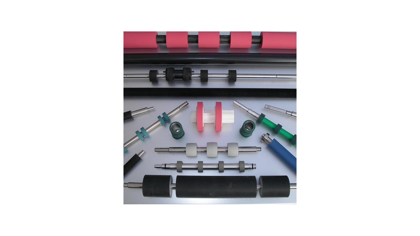 Logo Rollers and cylinders in rubber, polyurethane, silicon, foam and cfk