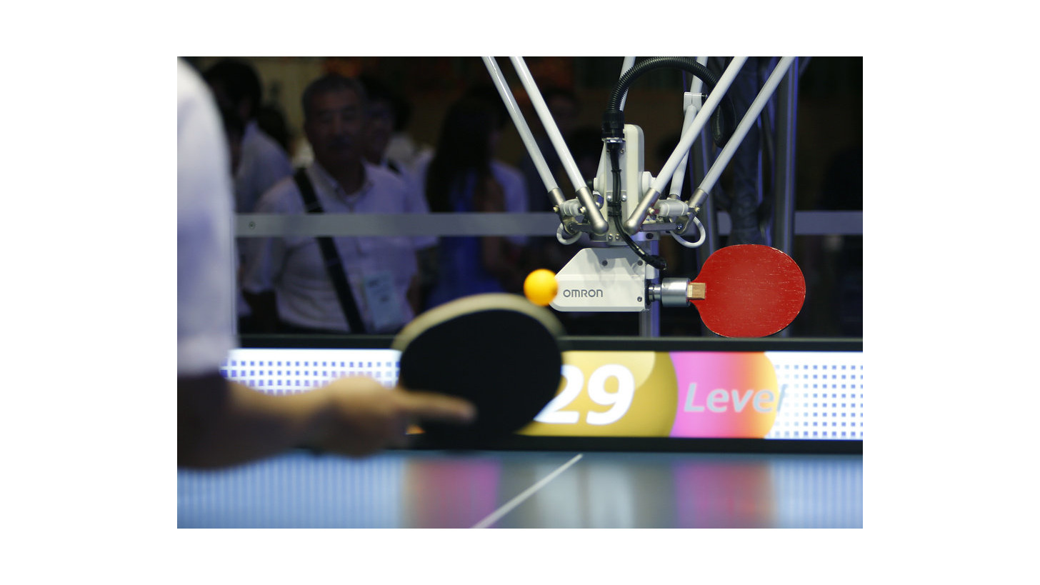 Logo Worlds first robot table tennis tutor