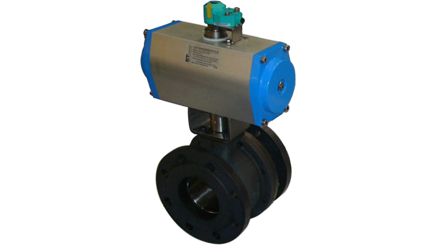 Logo Ball Valves pneumatically  actuated