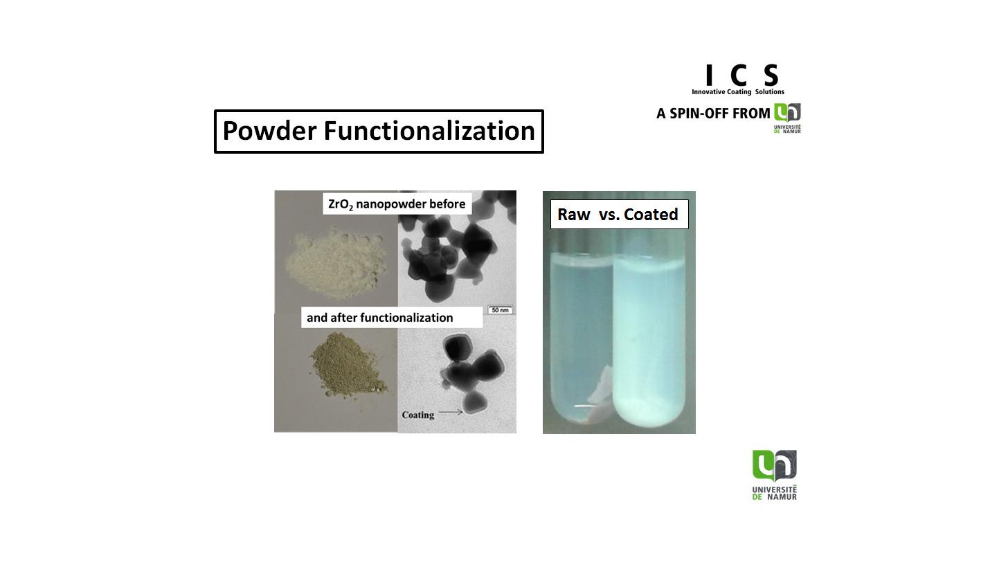 Logo Plasma functionalization of powders