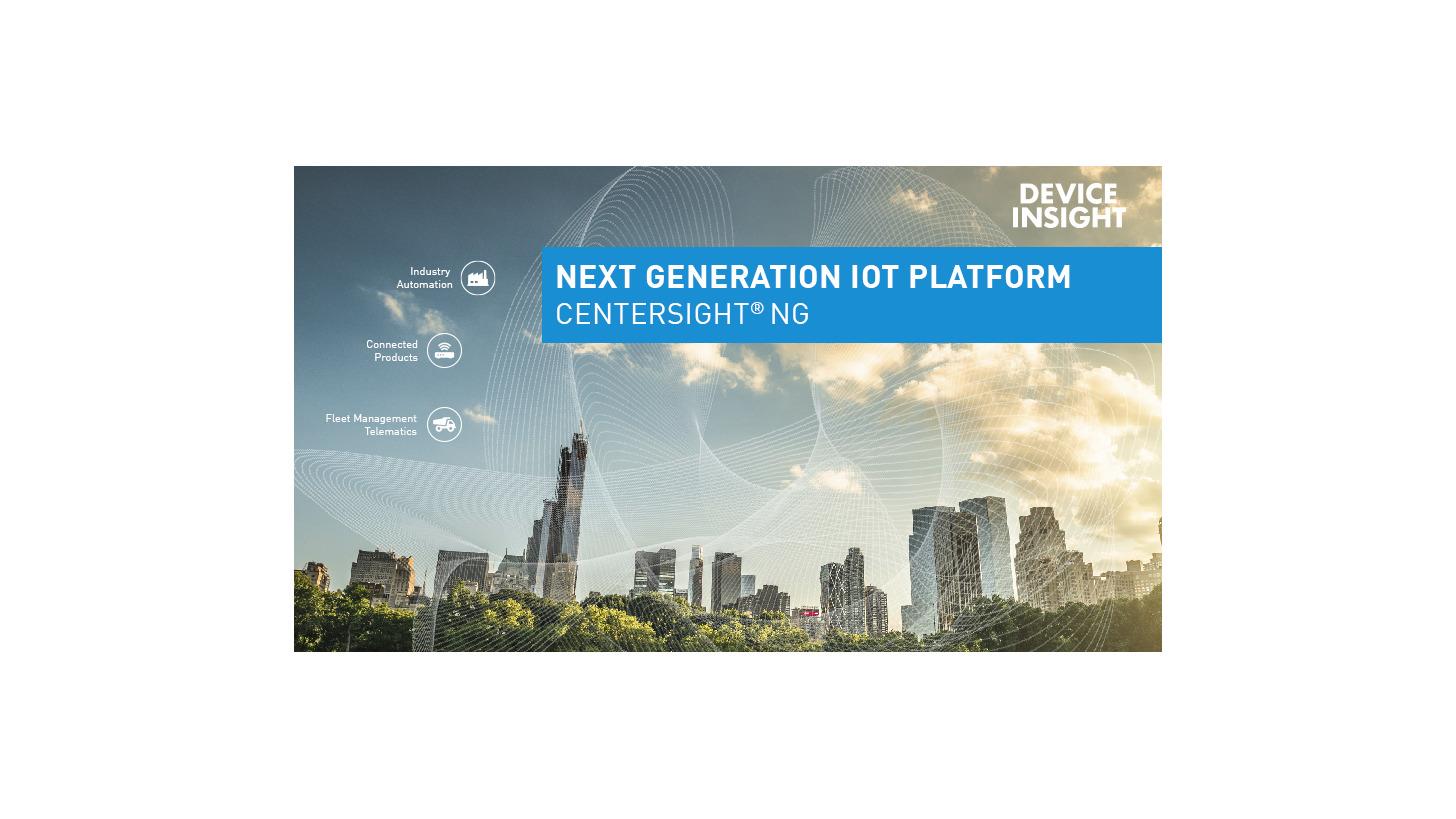 Logo CENTERSIGHT® NG - Die IoT-Plattform