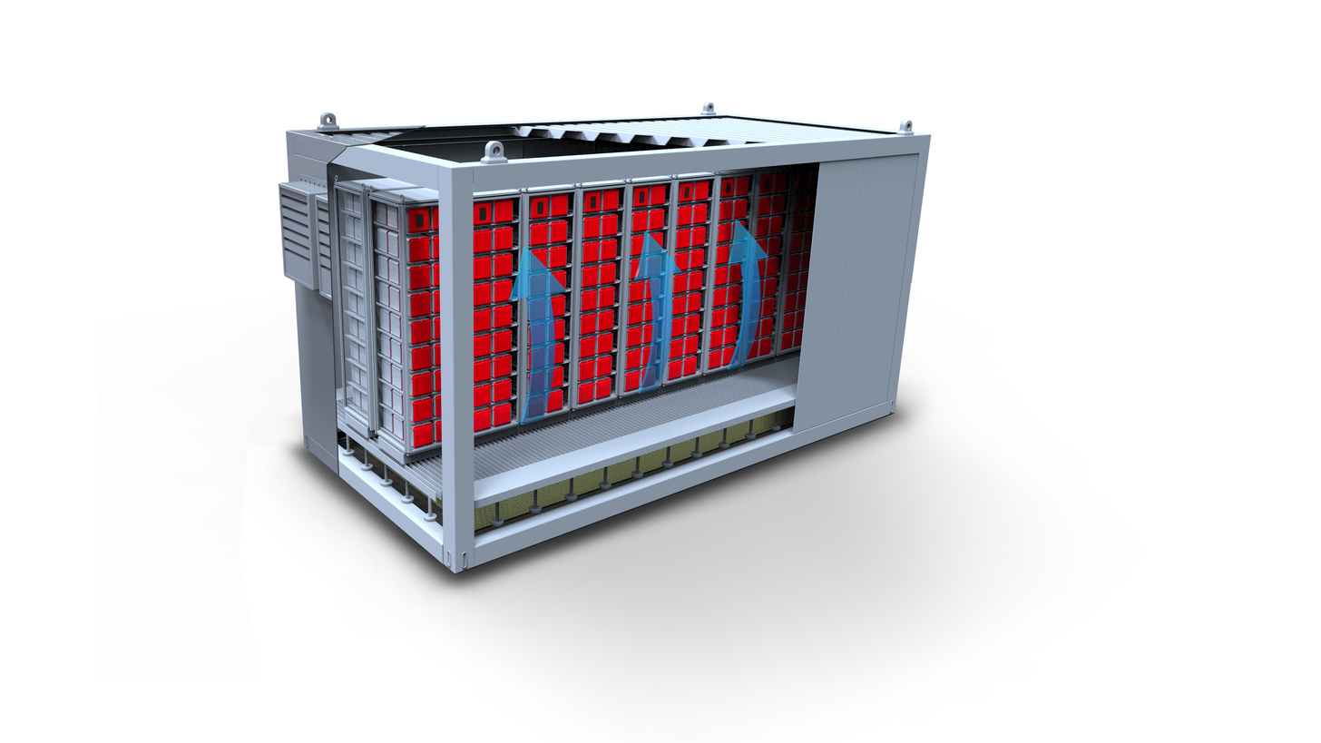 Logo energy storage container