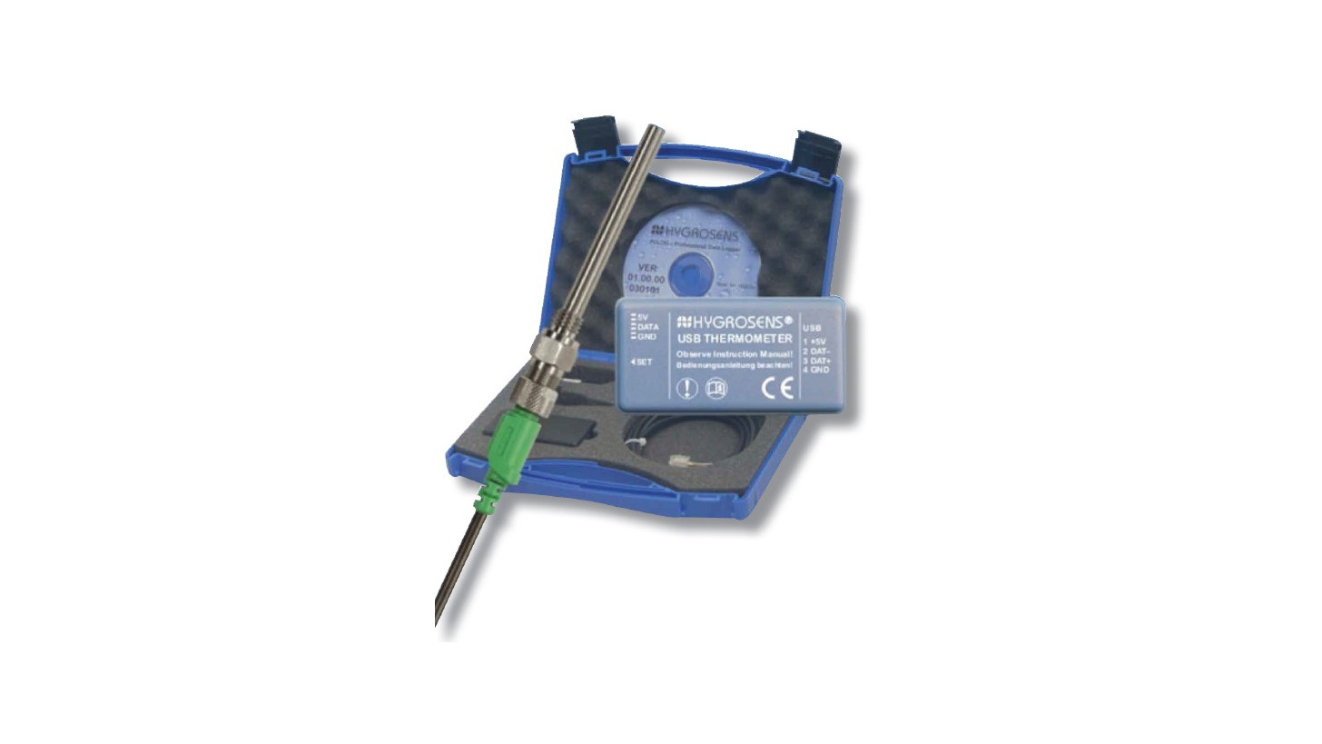 Logo PC Temperature Measurement System with RS232 or USB Interface