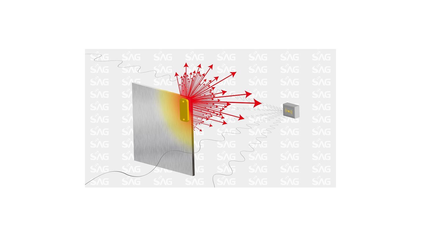 Logo RAIN RFID Overmolded Uni Metal Tag