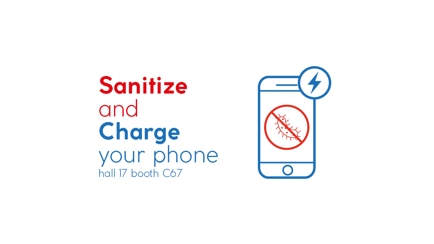 Logo Sanitize and Charge Your Phone!