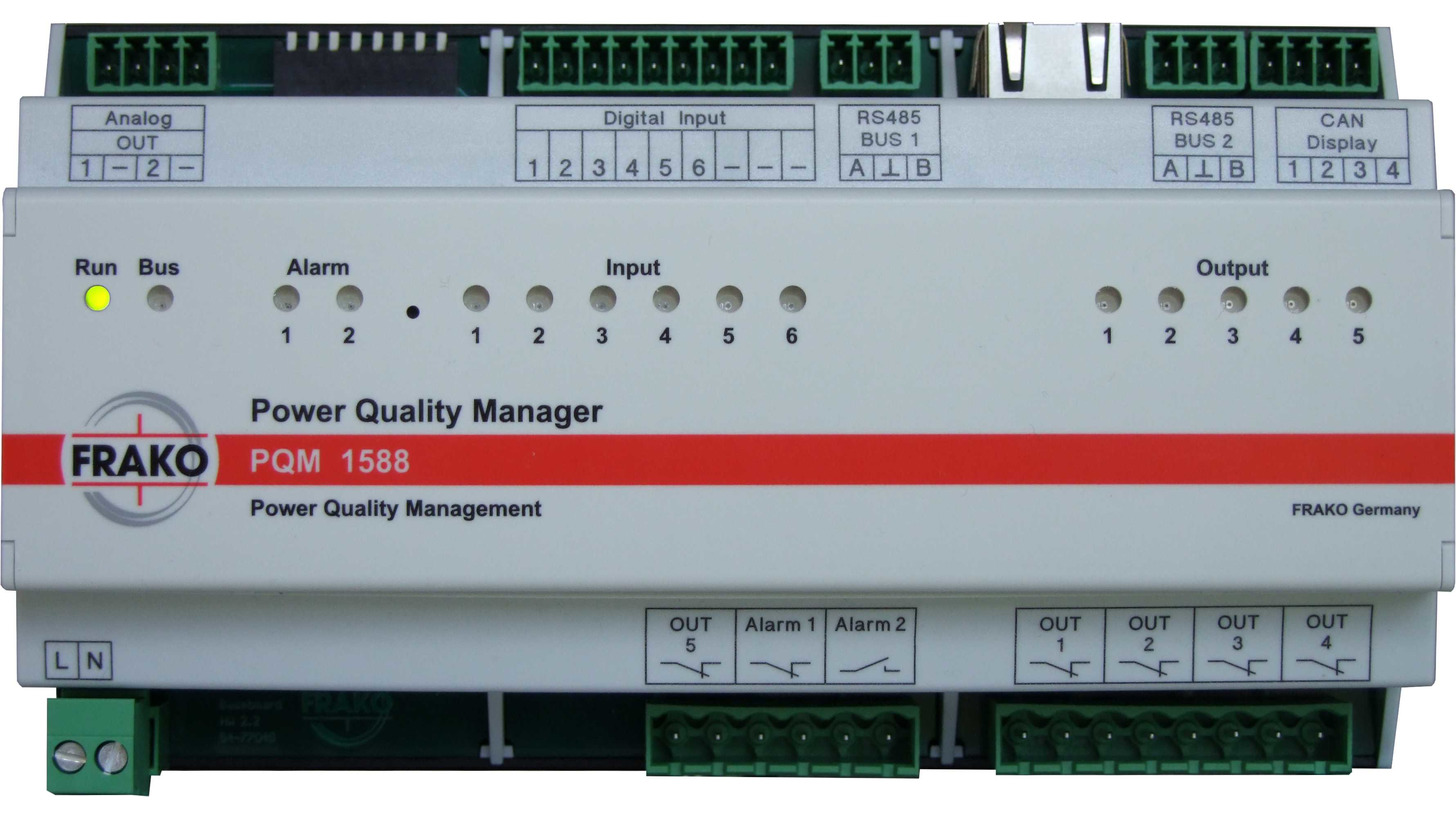 Logo FRAKO Power Quality Manager PQM 1588
