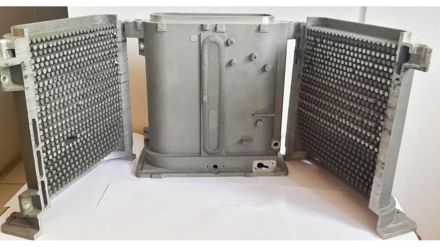 Logo Aluminum casting for Heat Exchanger