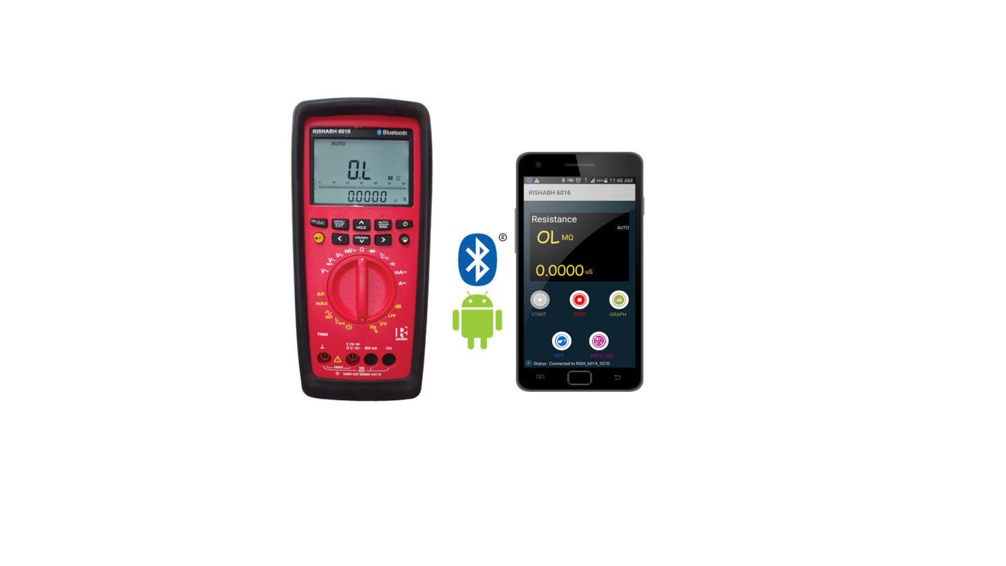 Logo Rishabh Bluetooth Multimeter with App