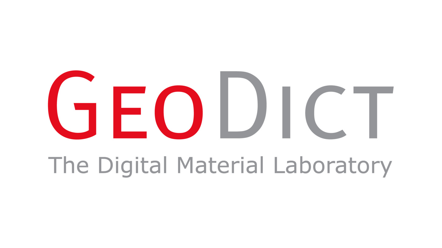 Logo GeoDict- Das Digitale Materiallabor