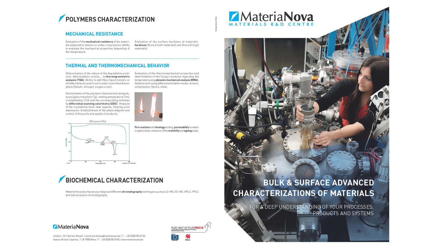 Logo Surface characterization of materials