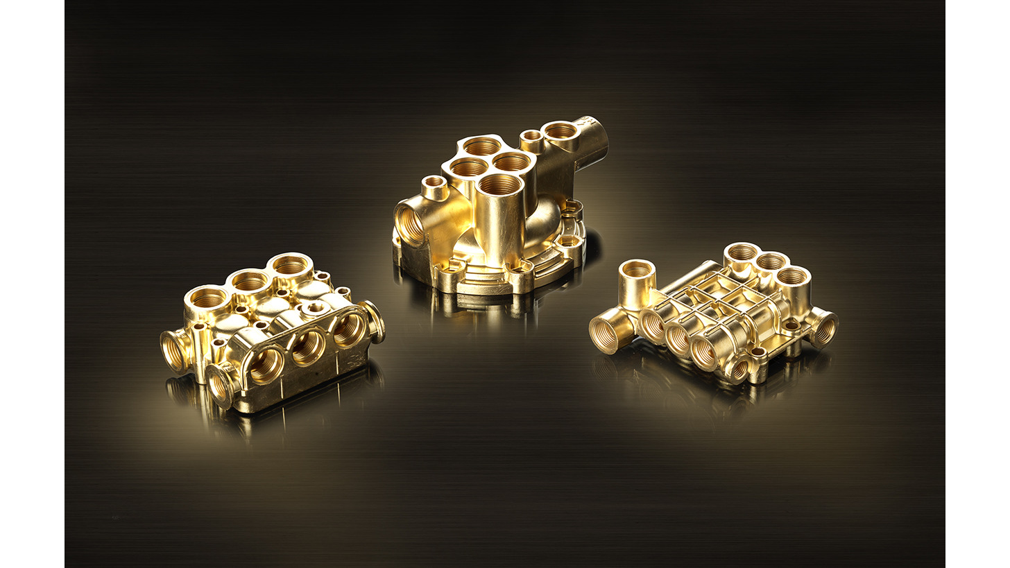 Logo Hot pressed and casted  brass parts