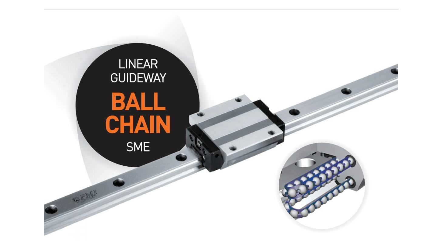 Logo Linear Guideway- Ball Chain Type, SME Series