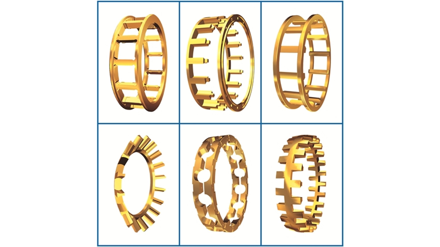 Logo Brass Ball & Roller Bearing Cages