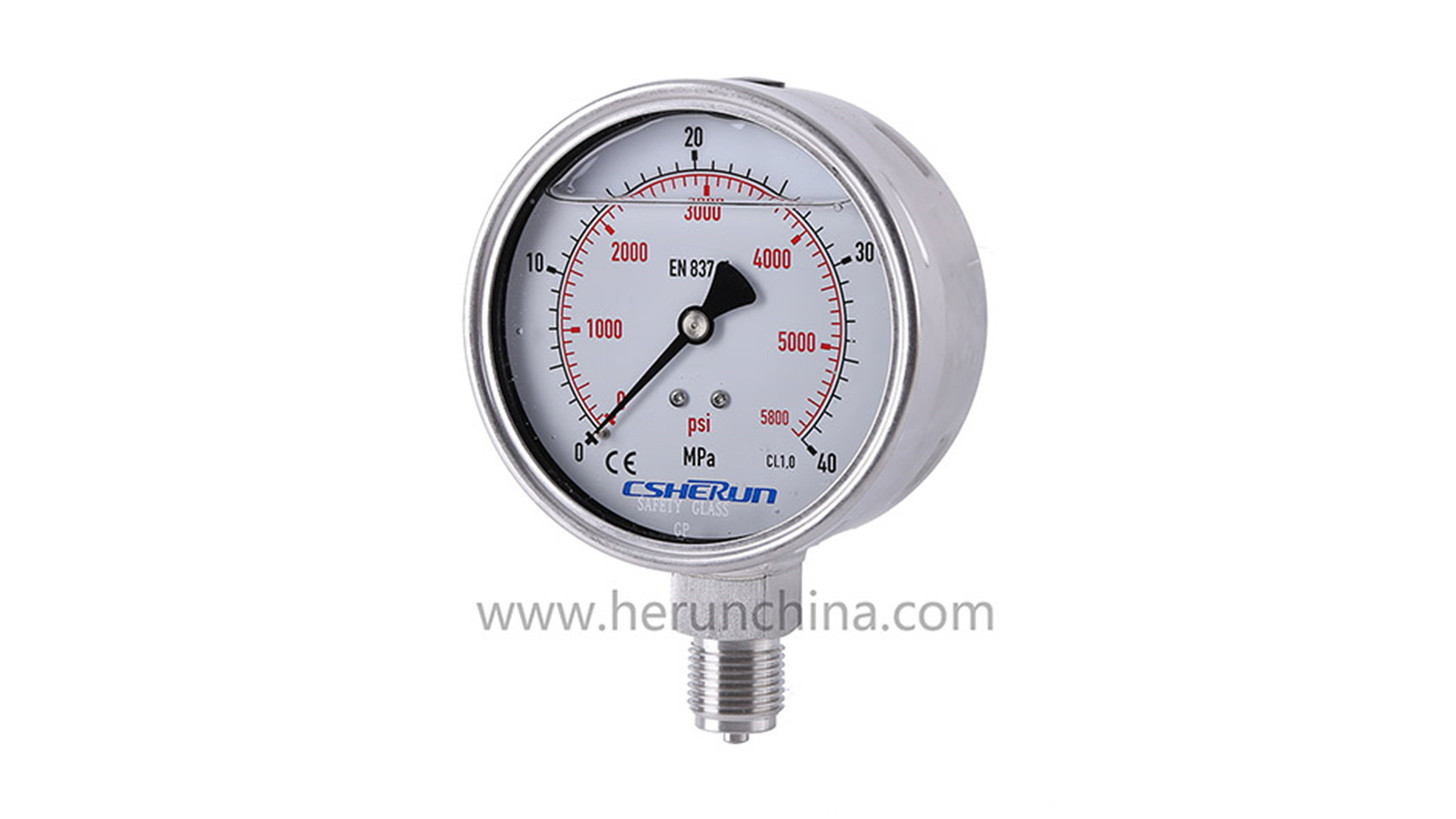 Logo Liquid filled pressure gauge