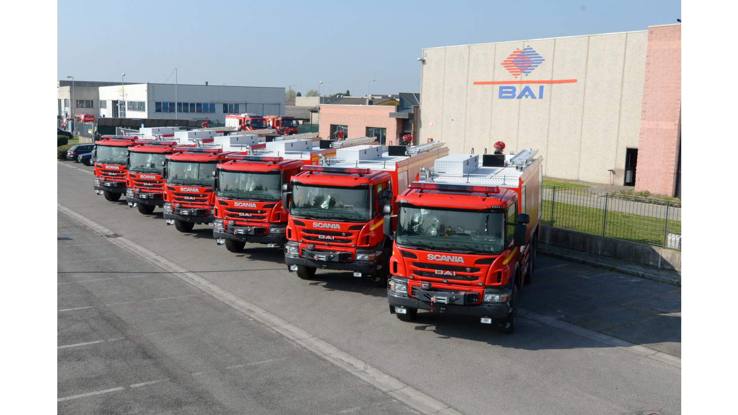 Logo BAI Industrial Fire Fighting Vehicles