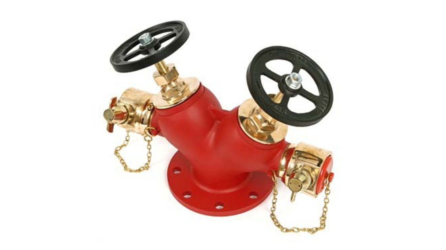 Logo Fire Hydrant Valve - Double Outlet