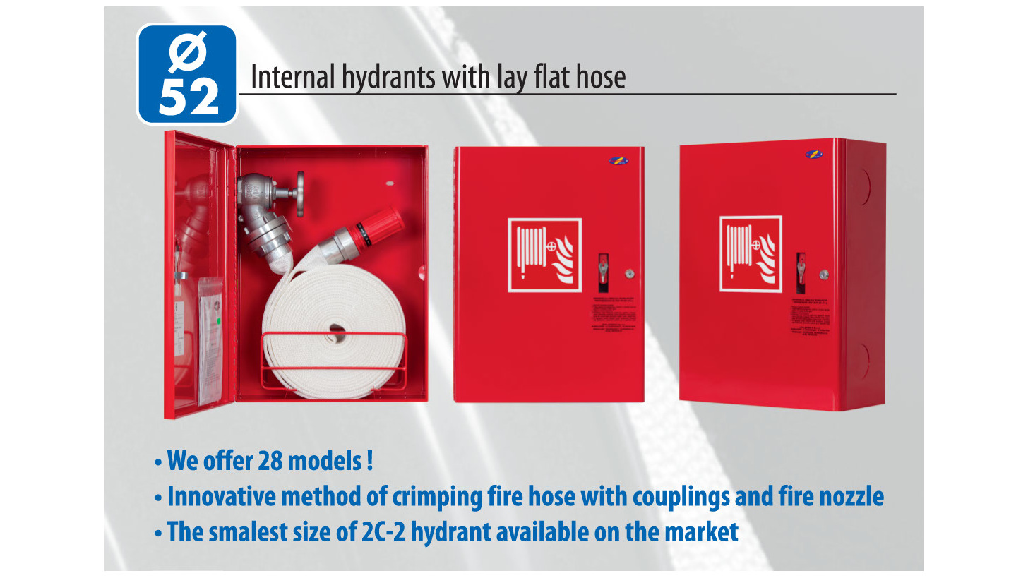 Logo Internal hydrants with lay flat hose