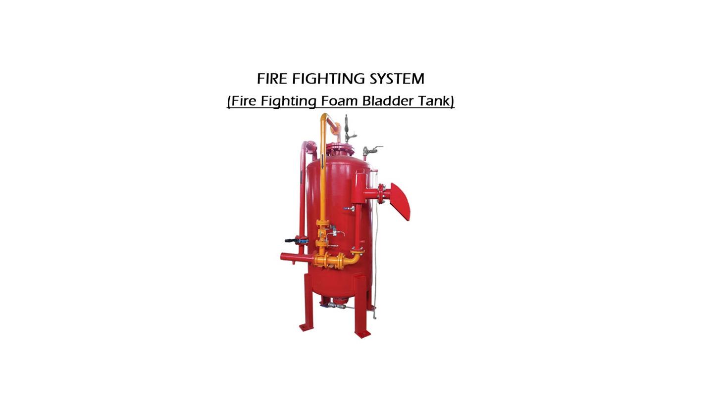 Logo FIRE FIGHTING FOAM BLADDER TANK
