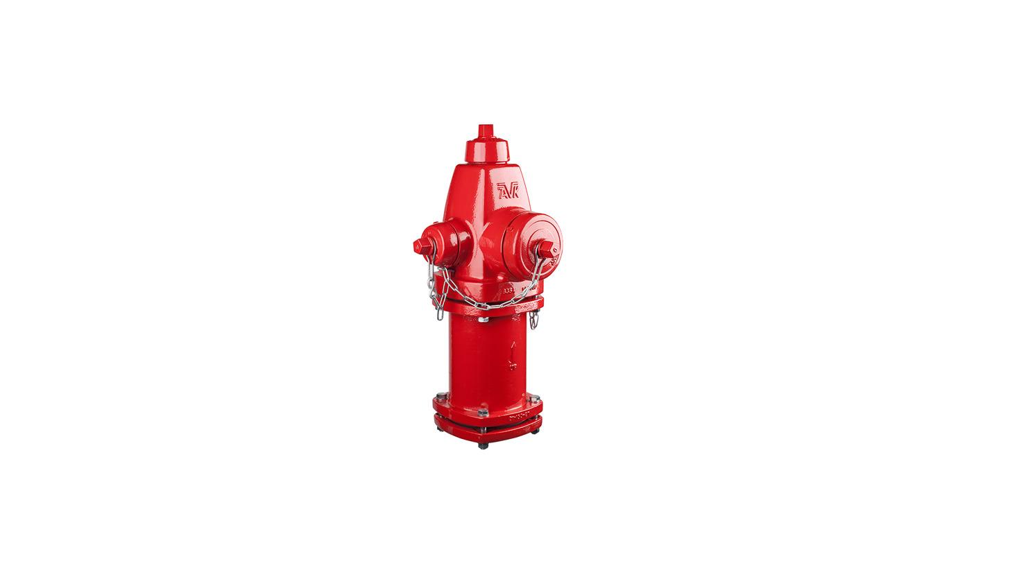 Logo High pressure, dry barrel fire hydrant
