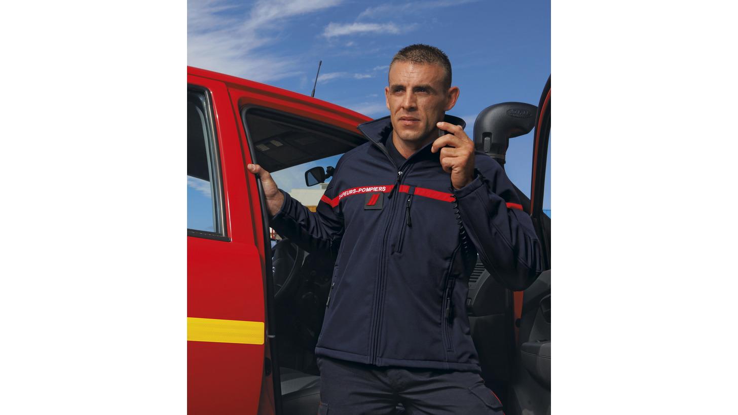 Logo Firefighter's soft shell jacket