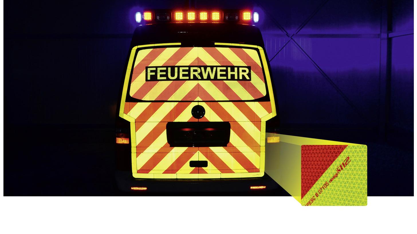 Logo Heck-Warnmarkierungssätze