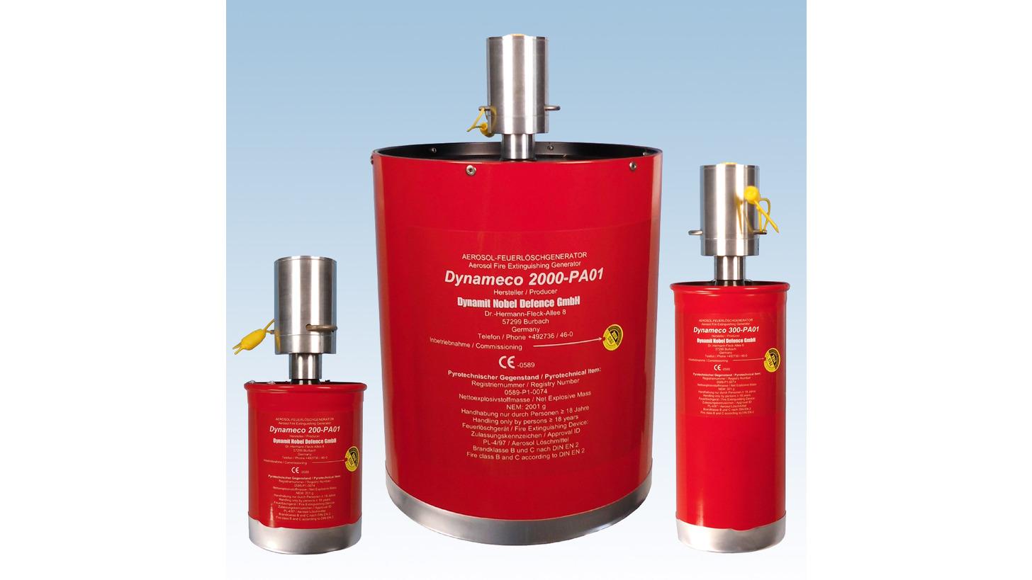 Logo Fire Extinguishing Generators pneumatic