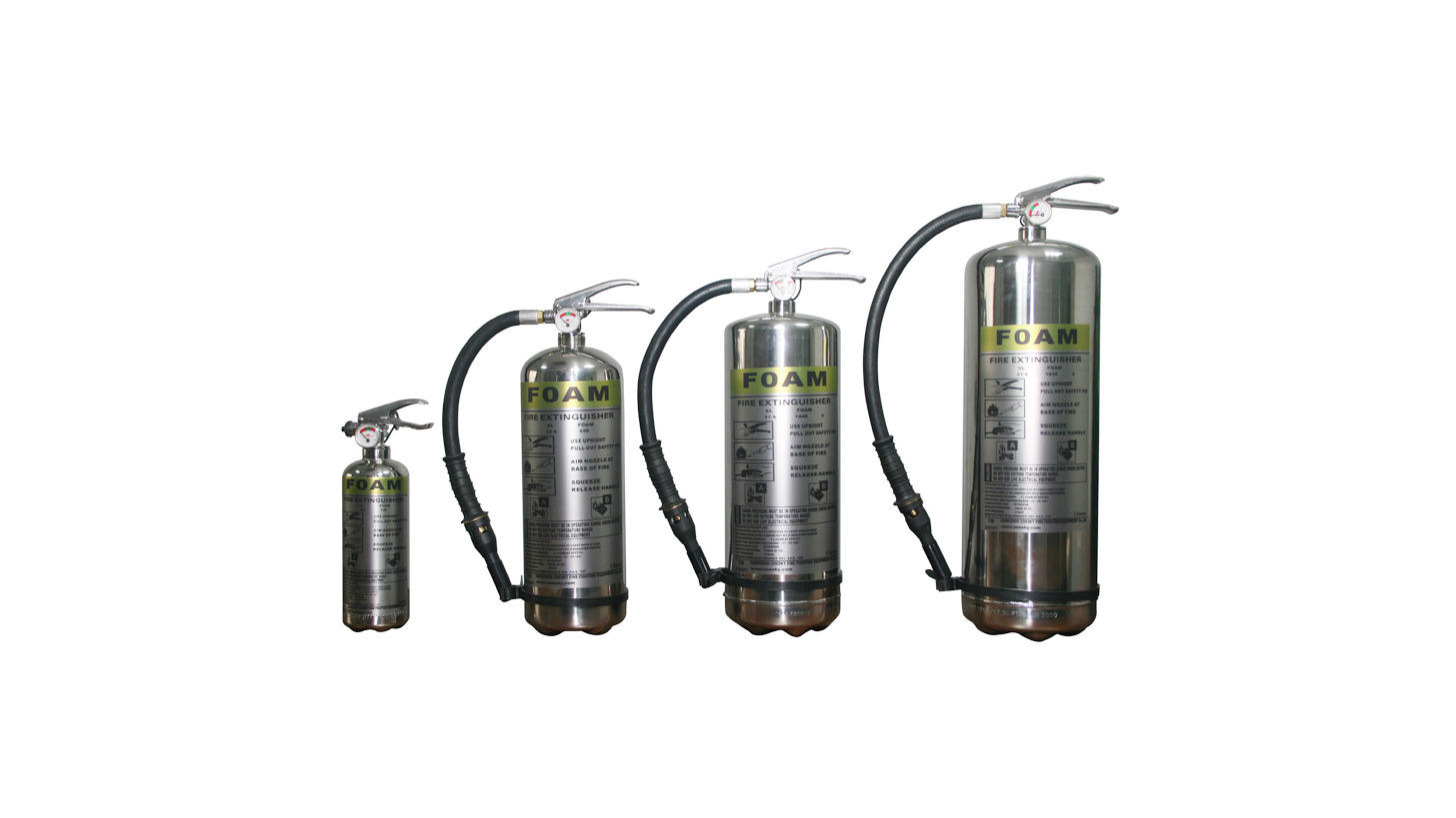 Logo Stainless steel fire extinguisher