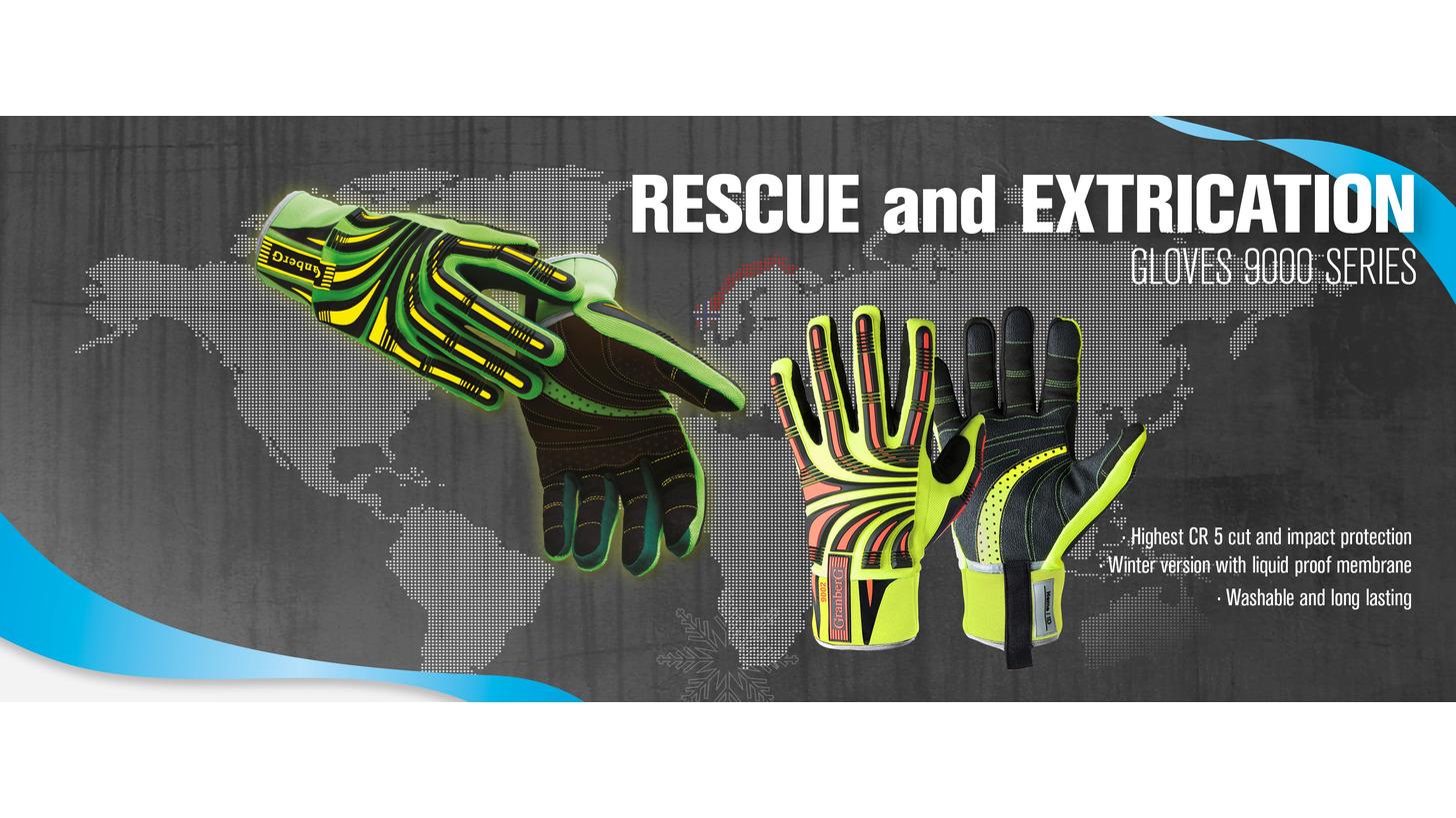 Logo Schutzhandschuhen für Rettungsmannschaft
