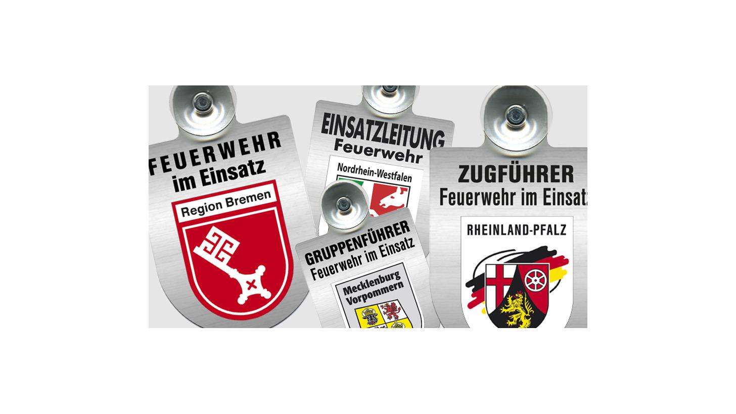 Logo A riot shield f. Car window firefighters
