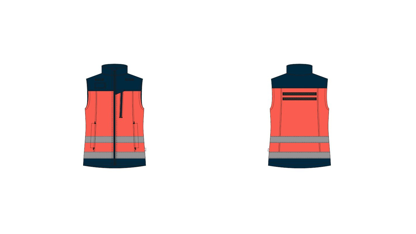 Logo Vest softshell womens - Paramedic