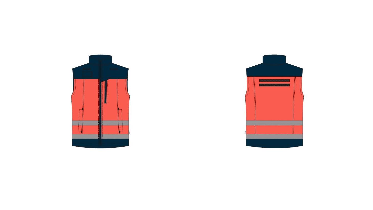 Logo Weste Softshell Herren-Rettungssanitäter