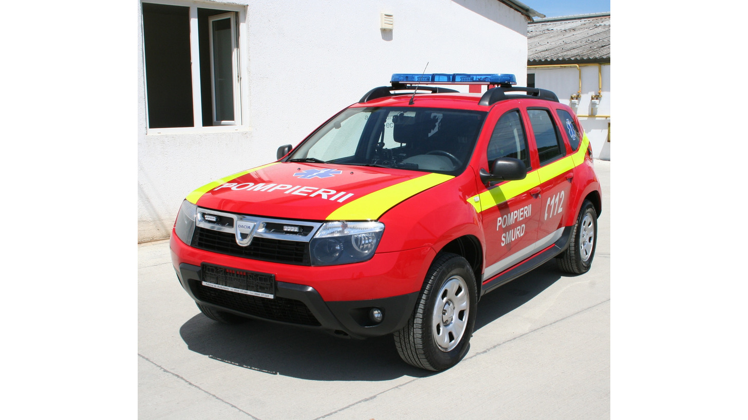 Logo Dacia Duster emergency doctor vehicle