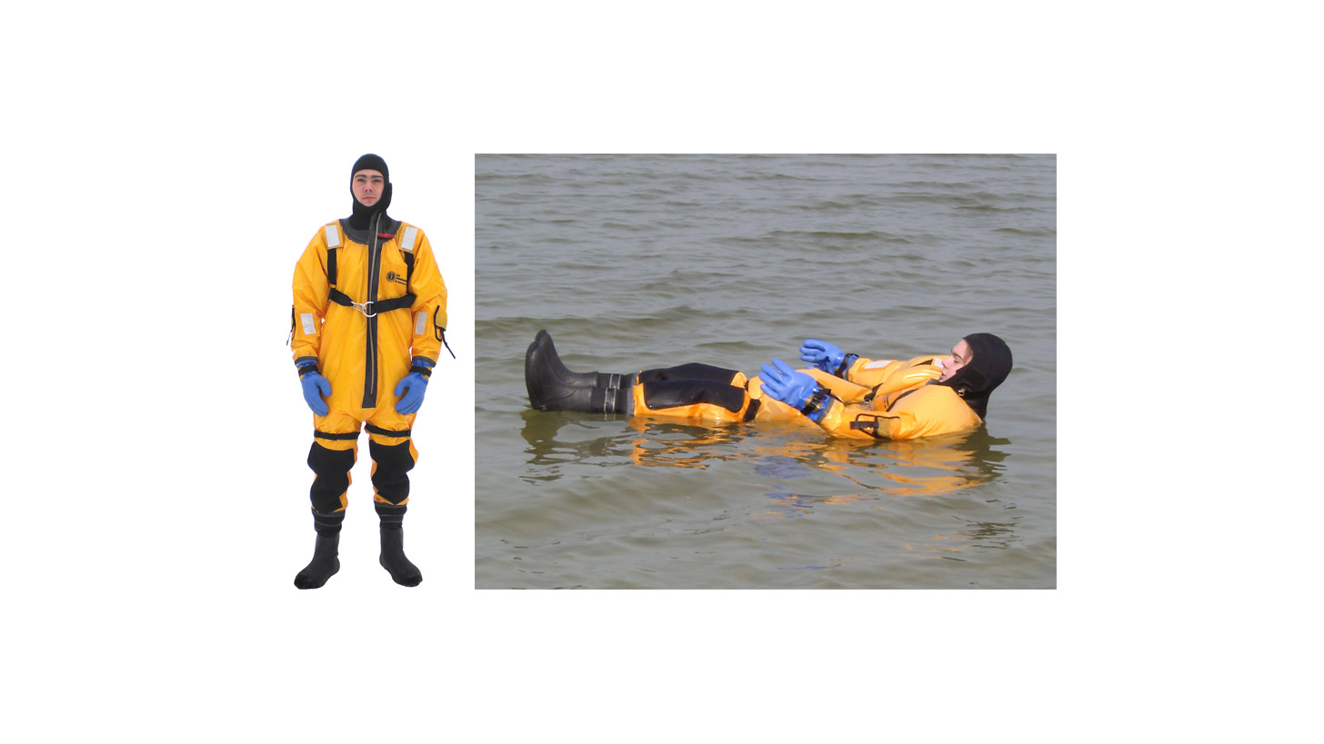Logo Ice and Waterrescue immersion suit
