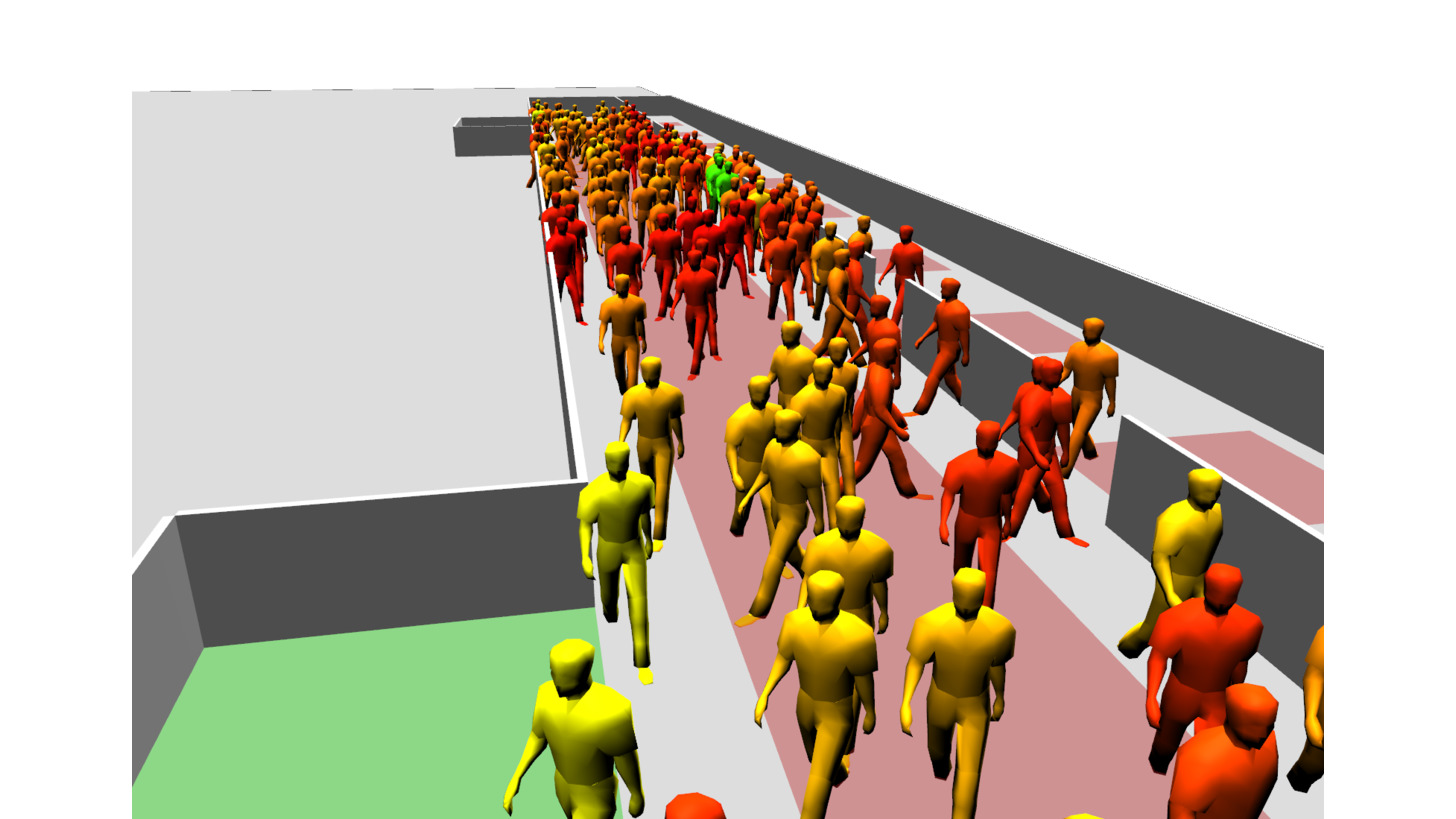 Logo Simulation of pedestrian flows