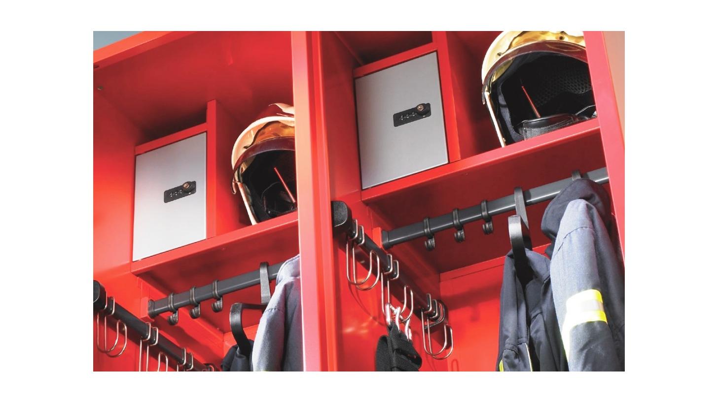 Logo The new Evolo fire service lockers