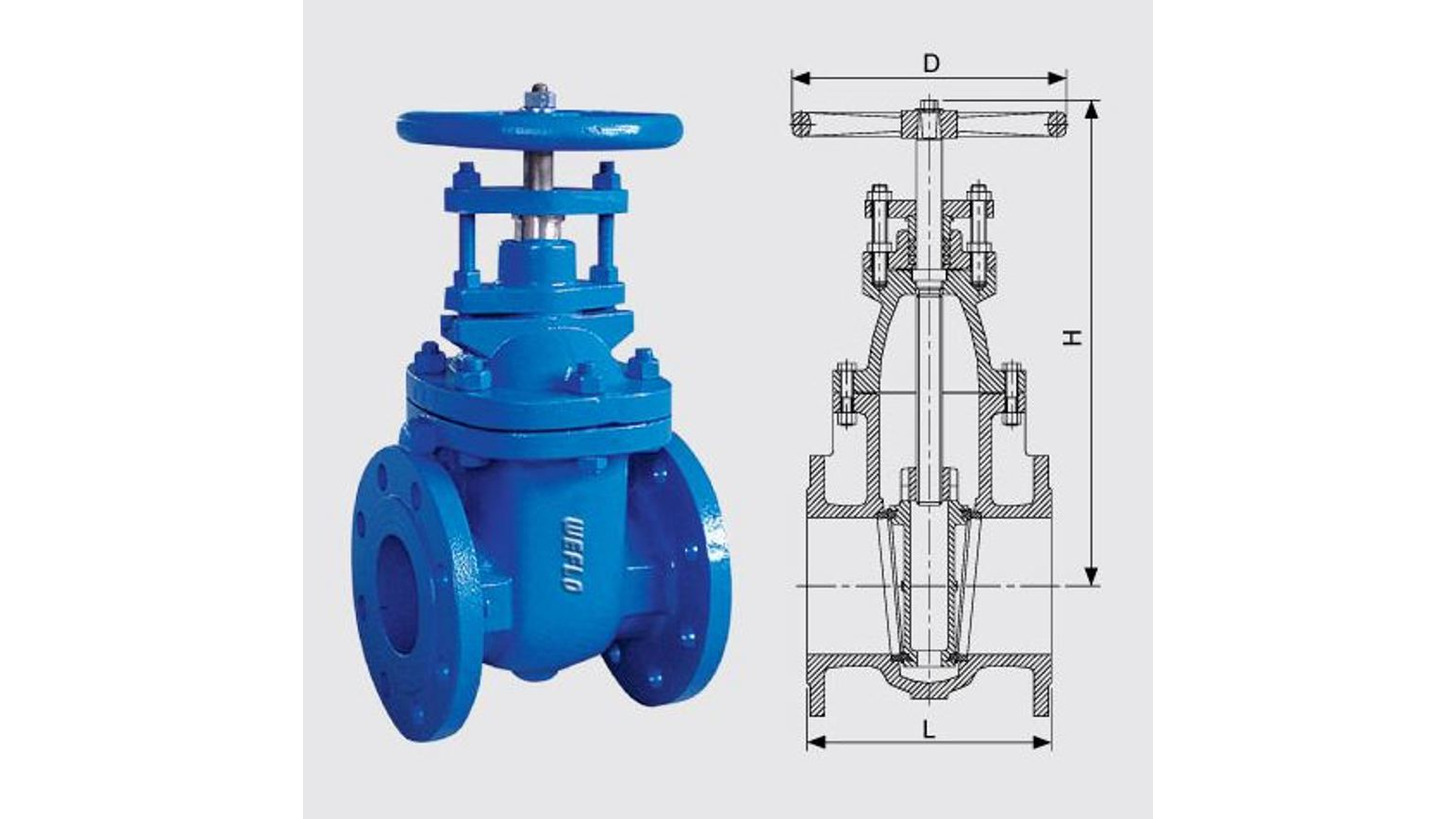 Logo NRS Gate Valve, Metal sealed