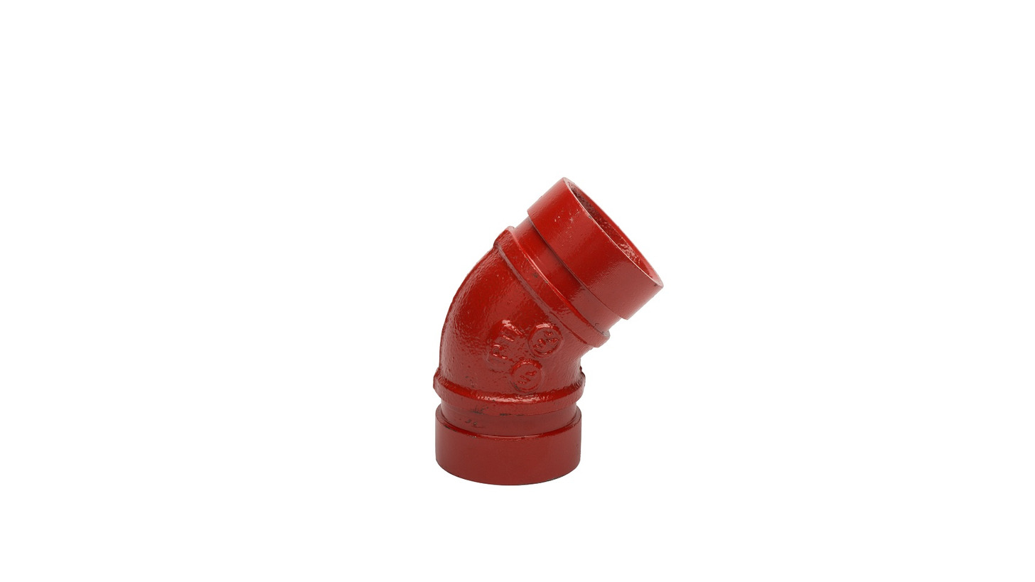 Logo Grooved elbow 45°