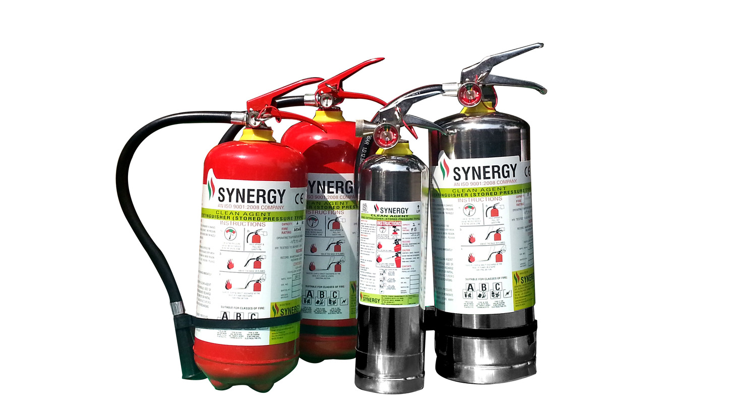 Logo Portable Clean Agent Fire Extinguishers