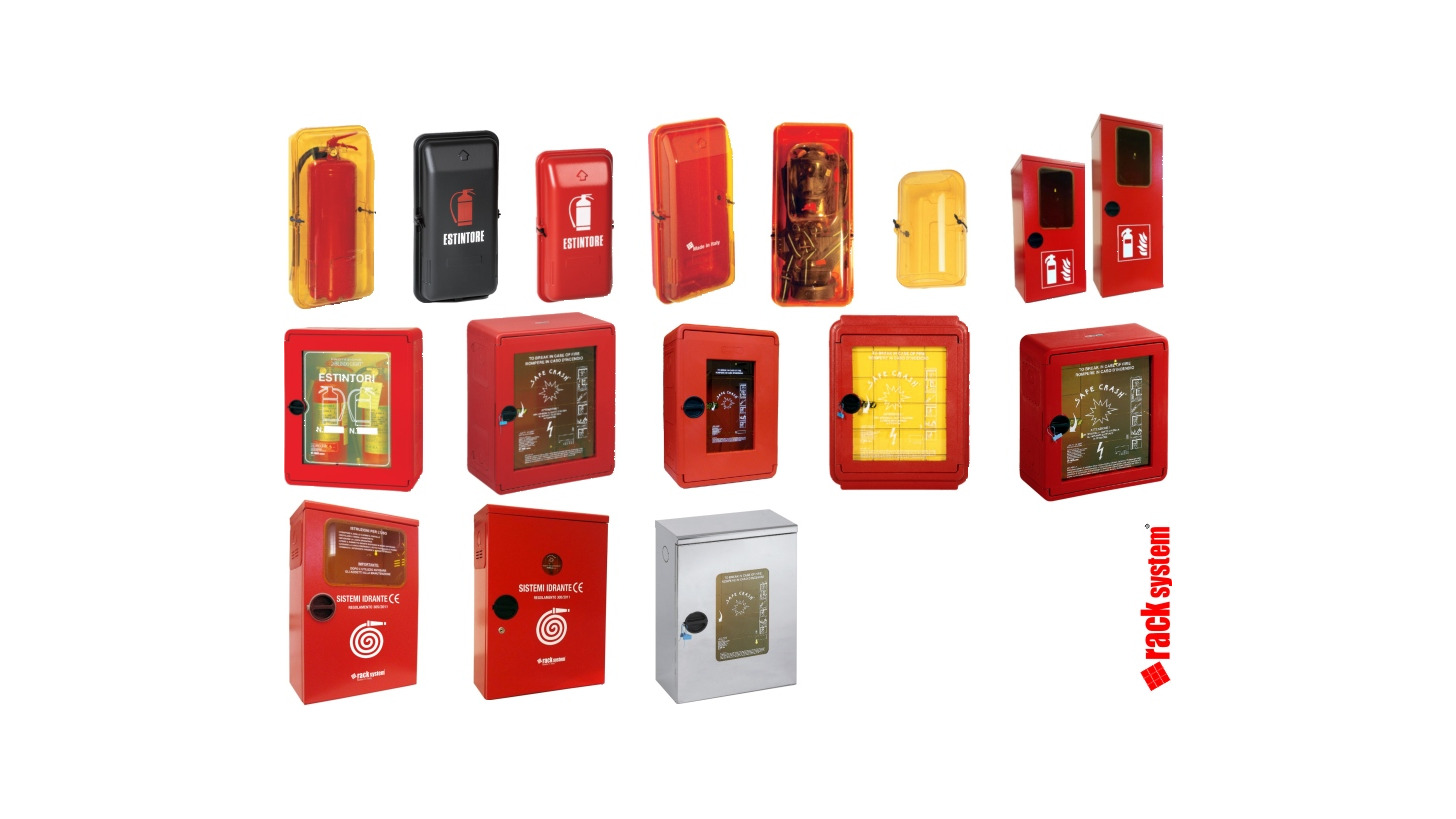 Logo Fire extinguisher and hydrant boxes