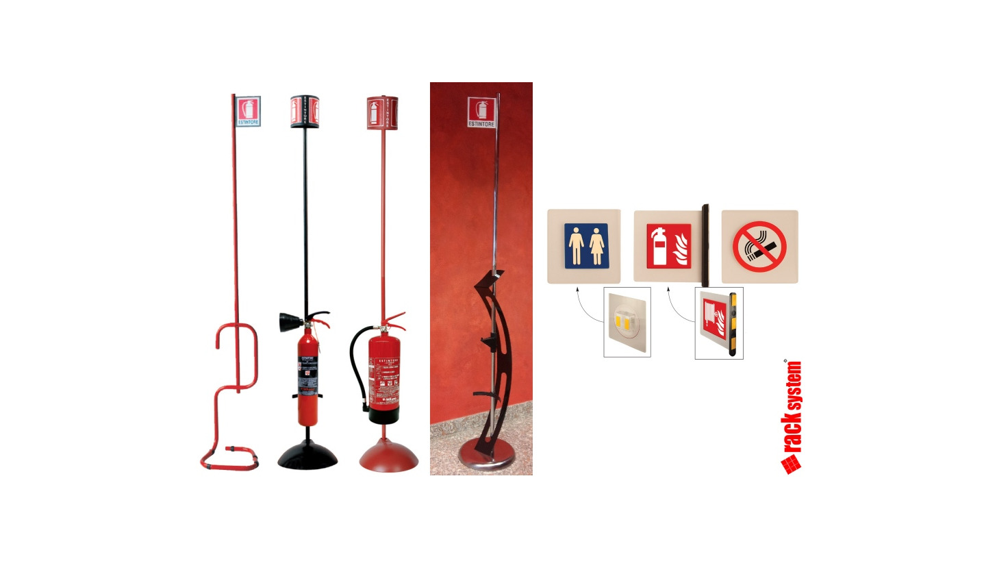 Logo Extinguisher stands and Signals