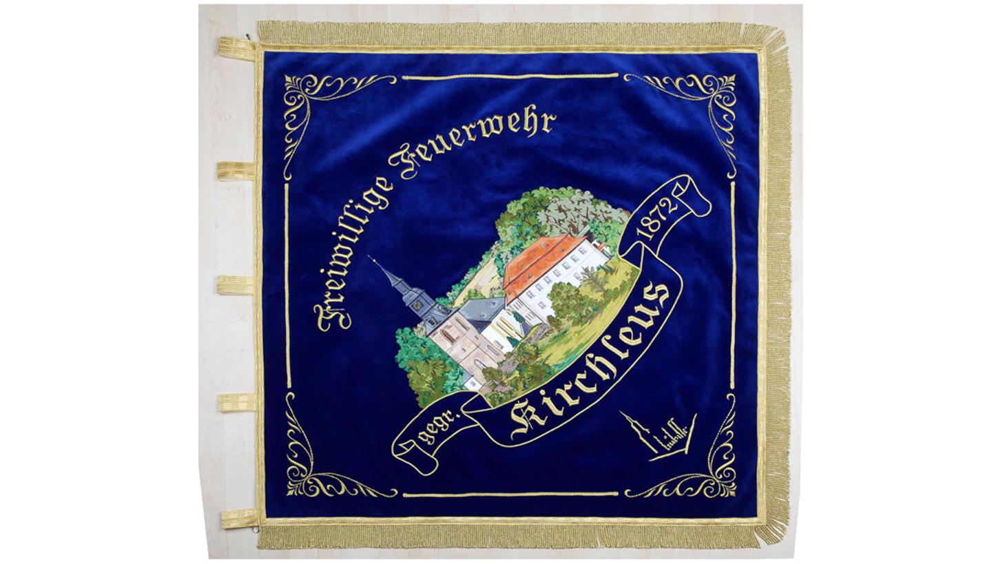 Logo Fahnen gestickt