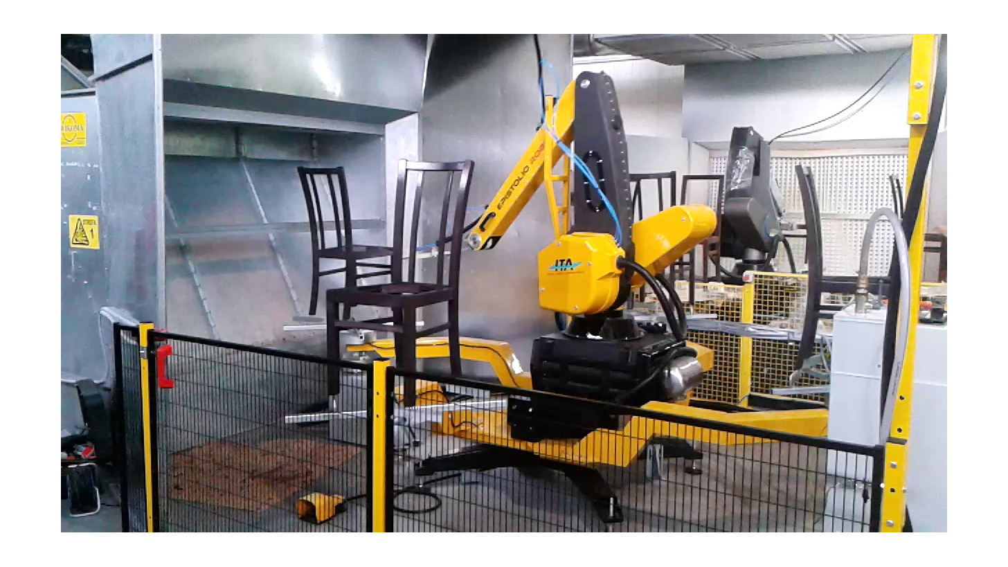 Logo Painting robots and complete robotic systems for spraying