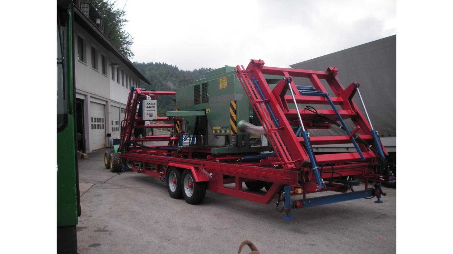 Logo Mobile Log Band Saw, Mebor HTZ 1000/1100 Mobile