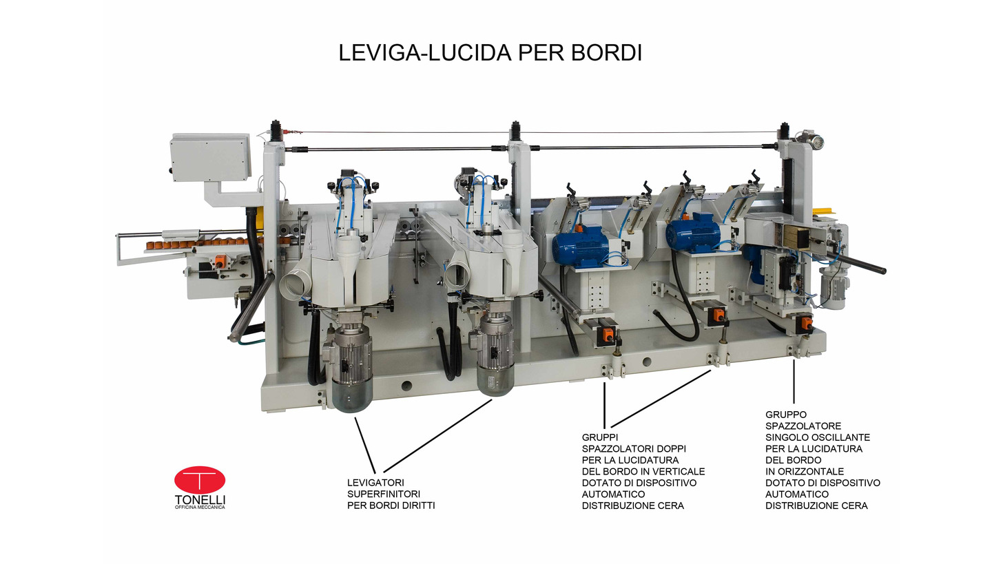 Logo Sanding and polishing machines for edges