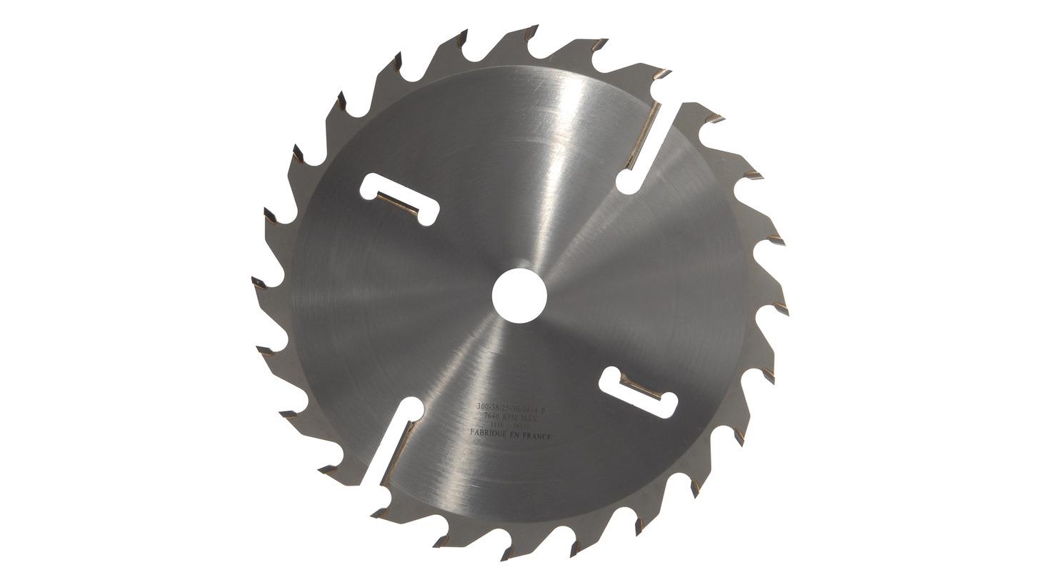 Logo Circular saw blade with wiper slots
