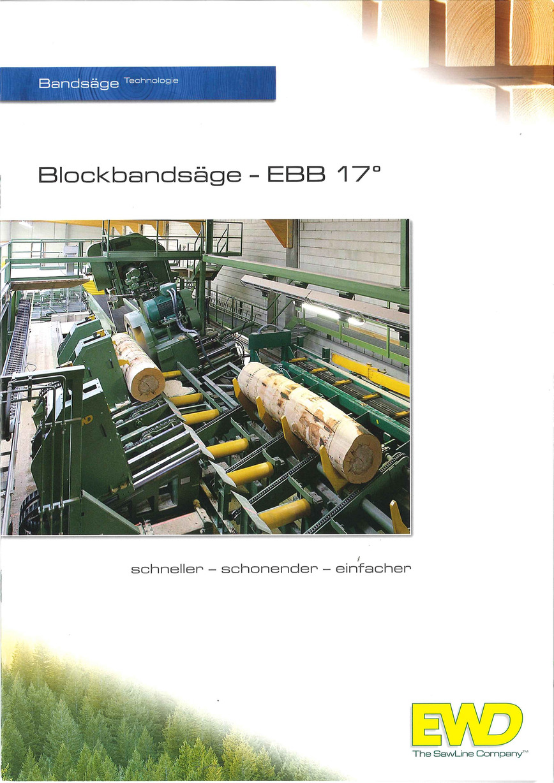 Logo EWD-Blockbandsägetechnik mit Neigung 17°