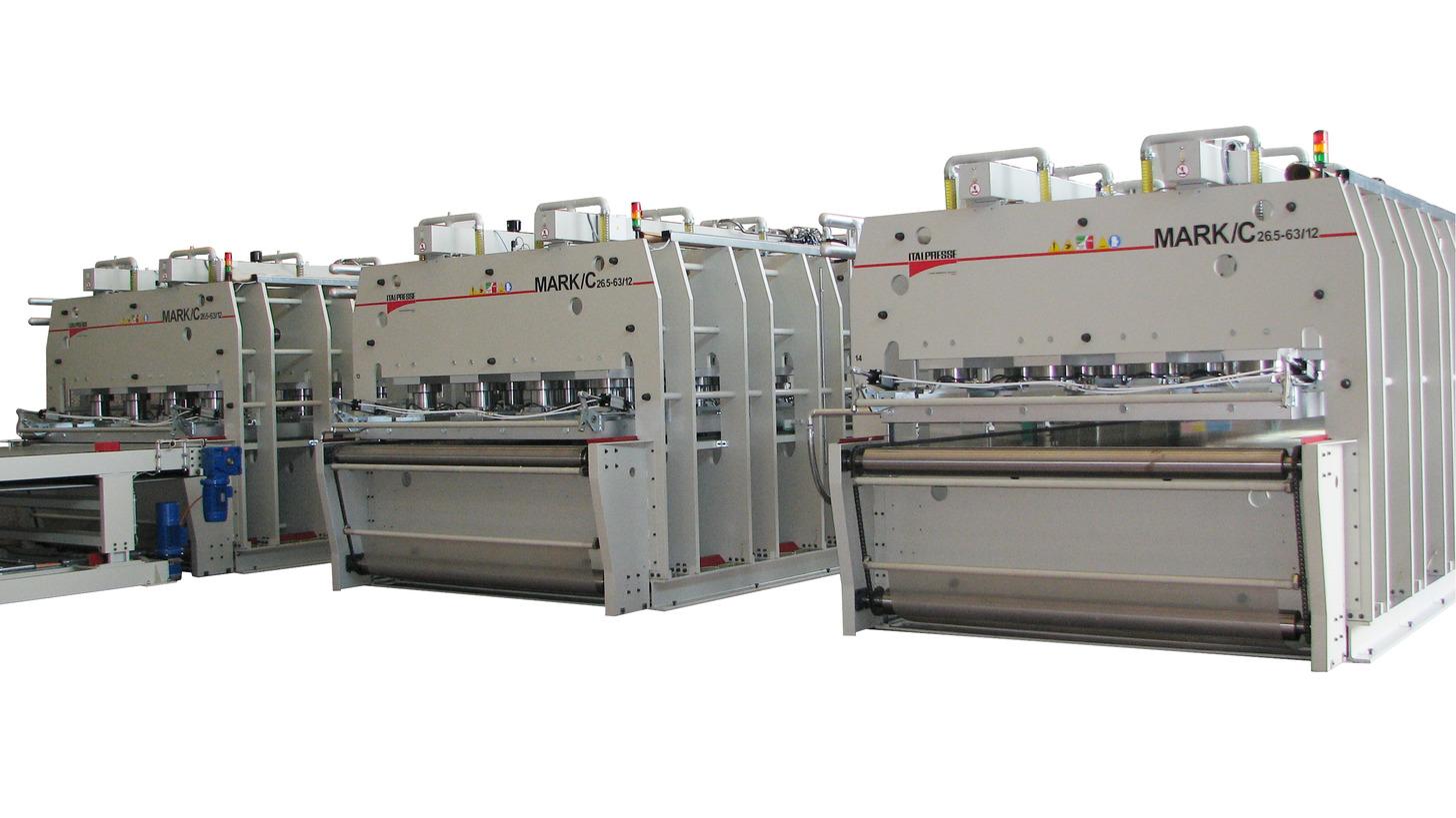 Logo Press lines for production of shuttering panels MARK/C