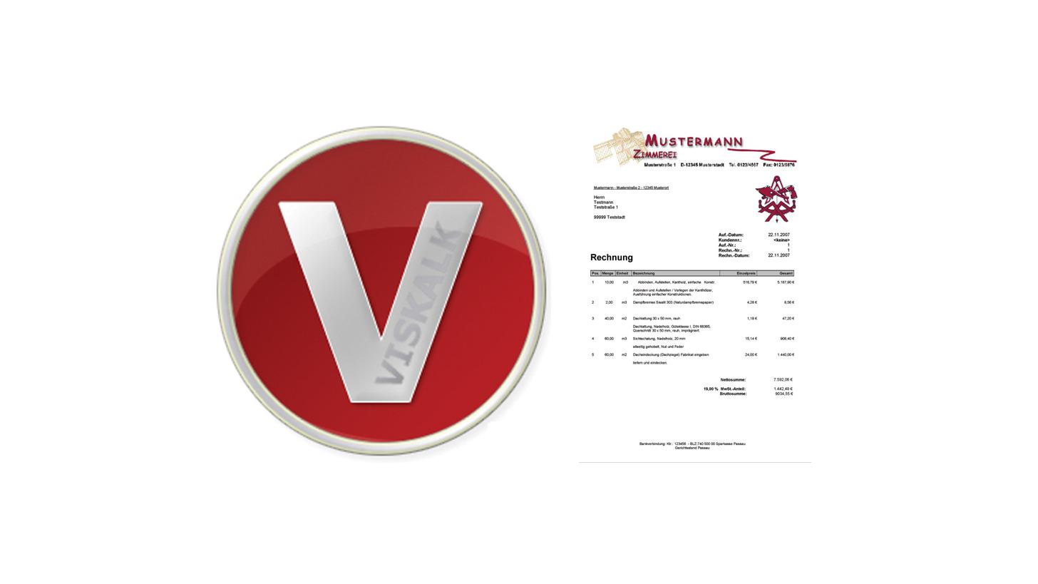 Logo VisKalk  Auftrag- und Kalkulation
