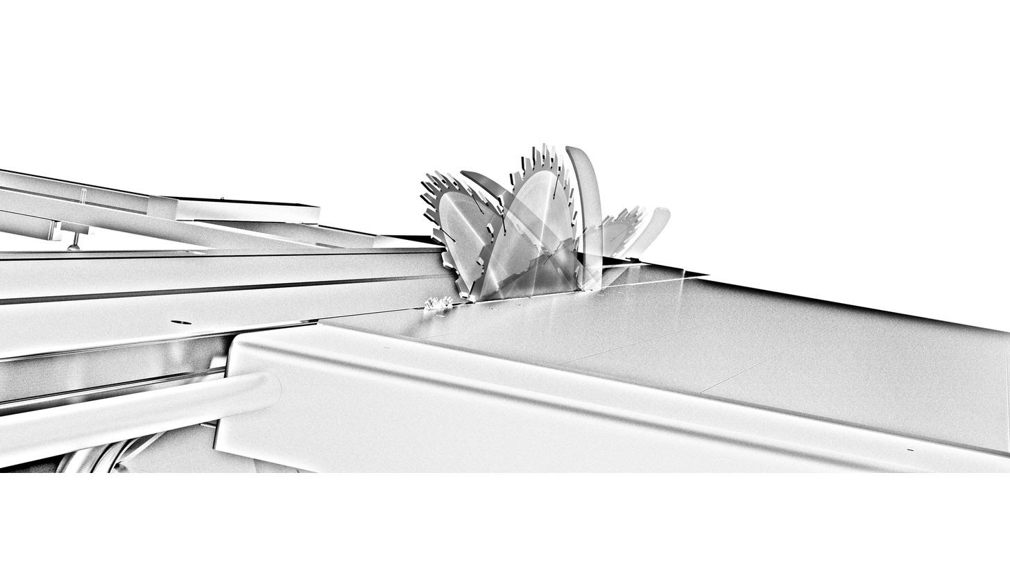 Logo Beidseitig schwenkbares Sägeaggregat: je