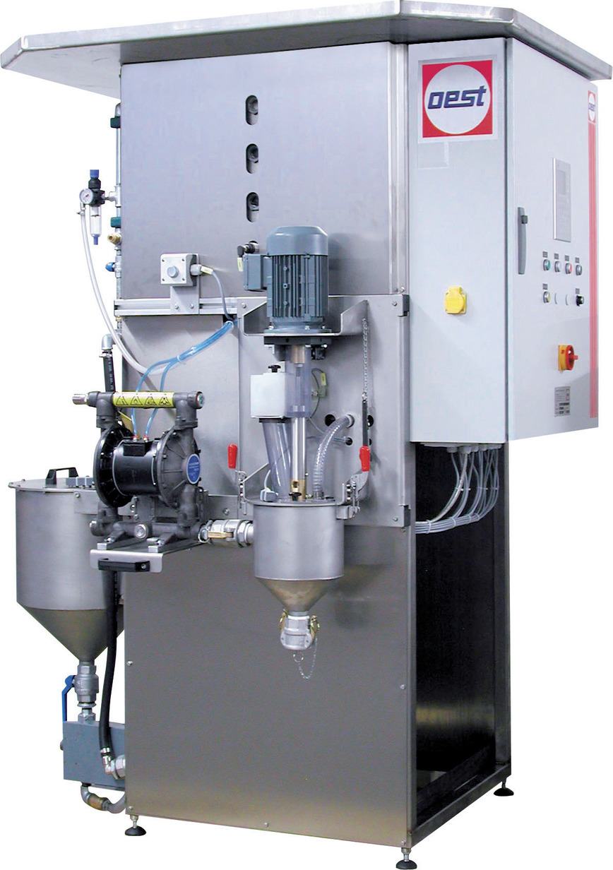 Logo Dosing and mixing units for liquid and powder components